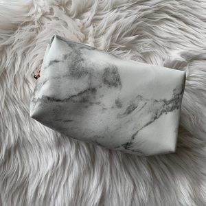 Marble makeup pouch